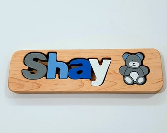 Personalized Name Puzzle, Custom Name Puzzle, Wooden Letter Puzzle, Personalized Gift, Newborn Gift, Gift, Free engraving message,