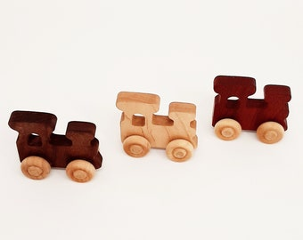 Wooden Train (3 pieces)- Wooden Toy car- Organic Toy- Car Toy-Wooden Baby Toy-Eco Friendly-Toy Cars- preschooler toy