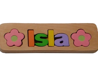 Personalized Name Puzzle, Custom Name Puzzle, Wooden Letter Puzzle, Personalized Gift, Newborn Gift,Personalize wooden toy,free engraving