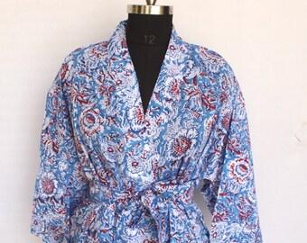 b5cdb5f48ad8cb Baumwolle Kimono, Frauen tragen Body Crossover, Brautjungfer Dressing  Kleid, Hand Patch Arbeit Block Druck Baumwolle Bademantel, indische Roben,  ...