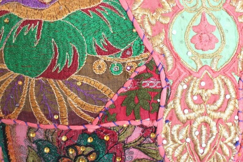 Indian Cotton Handmade Gypsy Banjara Embroidery Shoulder Bag Ethnic banajra Doctor Gypsy Bag Vintage Tribal Banjara Bag Tote Bag #26