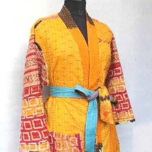 Winter Jacket#CJ 173 Festival Fashion Indian Cotton Kantha Coat Women Coat Ethnic Cotton Coat Traditional Handmade Vintage Kantha Coat