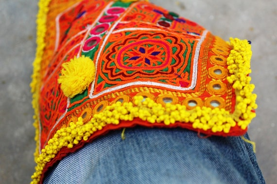 Perles de Banjara Afghani patch 28 X 26 correctif cm Applique correctif 26 Banjara Gypsy Patch artisanat Patch dos Patch veste Patch correctif 183b55