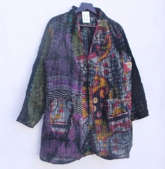 Indian vintage jacket cotton jacket woman old Jacket old vintage cotton Patchwork jacket coat hand made vintage cotton jacket