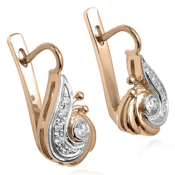 NEW Solid Lever Back Earrings REAL 14K White Gold  Easy ON OFF 15mm