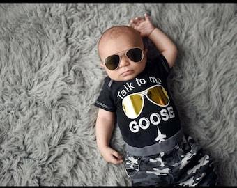 Talk to me Goose baby boy onesie shirt