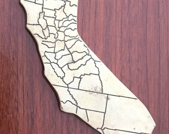 Brass california state paper weight, vintage
