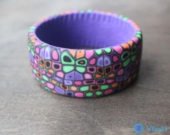 """Bracelet made of polymer clay """"Euphoria""""  Браслет  из полимерной глины """"Эйфория"""""""
