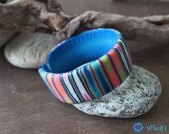 """Браслет из полимерной глины """"Акварель""""  Bracelet made of polymer clay """"Watercolor"""""""