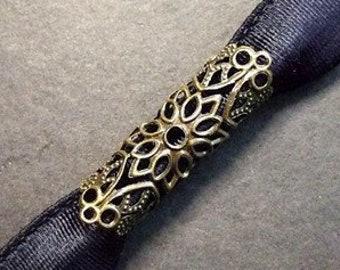 Filigree dreadtube dread jewelry metal bead antique bronze copper gold silver blue Rasta filigree wrap tubes tubes viking beads Ethnic
