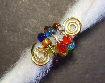 Colorful dread Bead Beads Brass Silver Dreadschmuck metal Dreadspirale Dreadlockschmuck Dread Jewelry Dreadspiralen