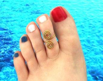 Zehring-ring toe ring Ring toe brass silver bronze toe ring