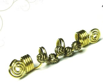 Dreadschmuck silver or gold colored beads Dreadspirale dread bead Dreadlockschmuck Dreadschmuck Dread Jewelry