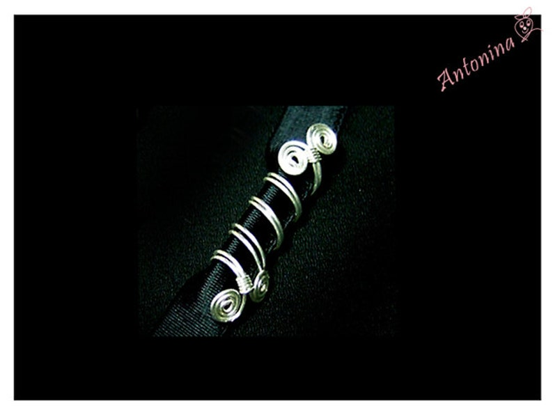 Metal Dread Beads Spirals Double Silver or Gold Dreadlocks Dread Jewelry Tribal Dread Jewelry Dreads