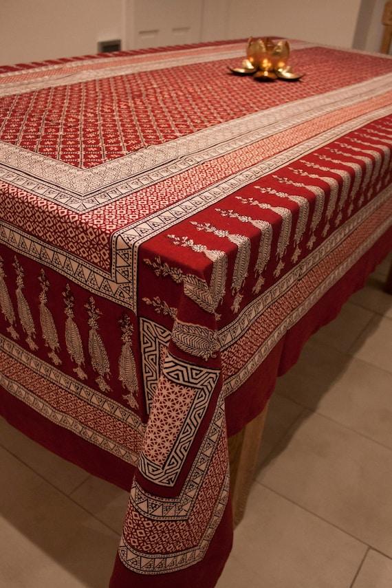 Brown Boho Wave Cotton Linen Table Runner New Decor Dinner Kitchen Table cover