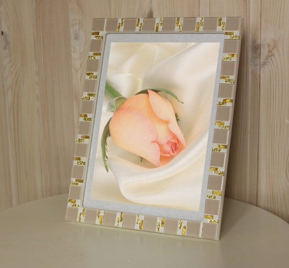 8x12 Frame Mosaic Wall Photo Frame Beige Frame Photo Etsy