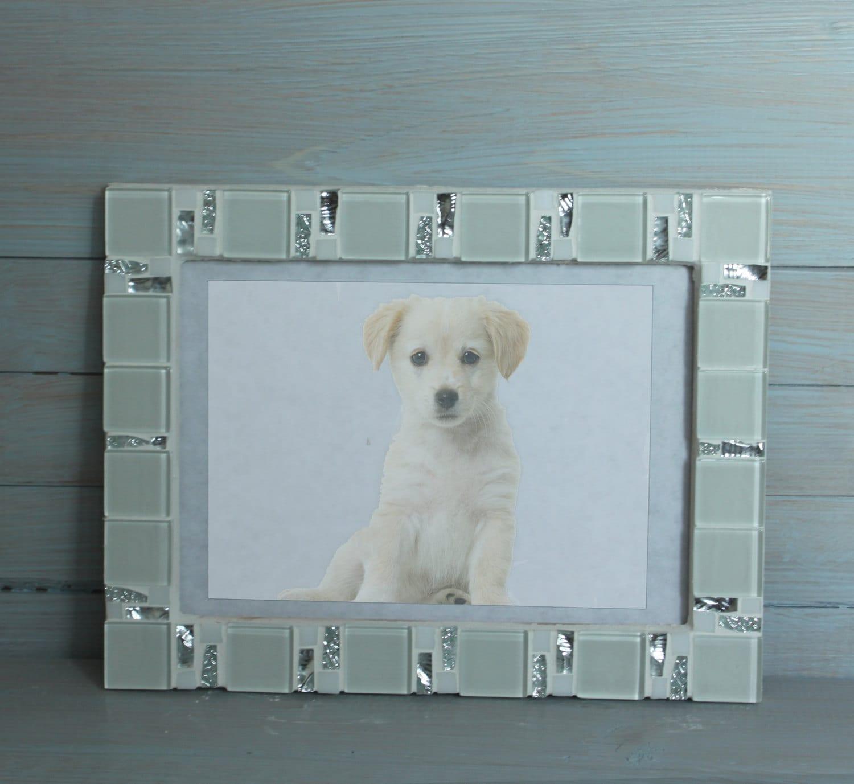 5 x 7 Frame Mosaik Foto Frame weißer Rahmen Bilderrahmen | Etsy