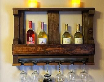 Wooden Wine Rack   Wine Glass Rack   Wall Wine Rack