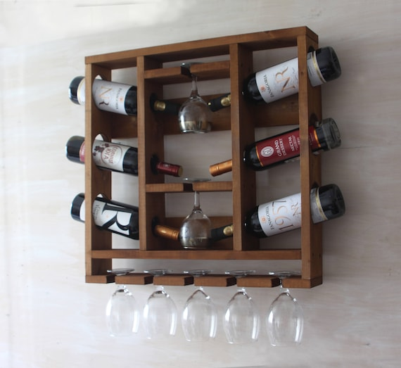 Wine Rack Wooden Wine Rack Hanging Wine Glass Rack Etsy