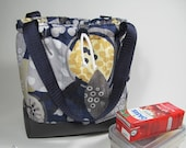 HANDBAG or lunch or loose fabric, quilted, all-purpose rigid bottom, easy maintenance, abstract patterns