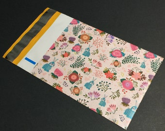 Palm Trees Quality Shipping Bag Envelopes 100 Mint Cactus 10x13 Designer Tropical Poly Mailers Combo Pack Pink Pineapple