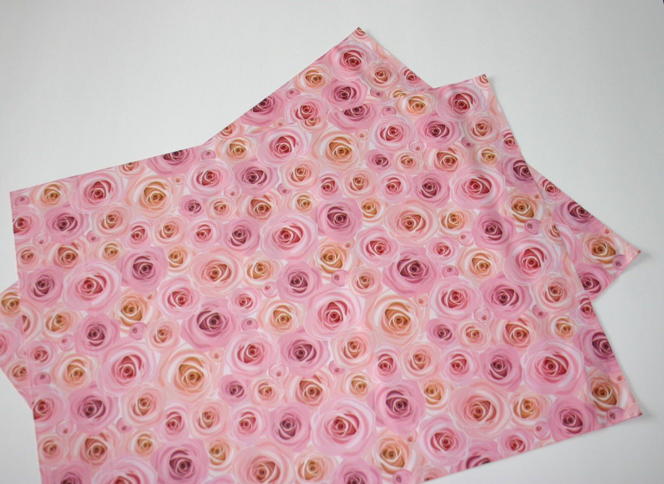 10 New ROSES 14x17 Pink Flower Mailers Poly Shipping Envelopes Boutique Bags