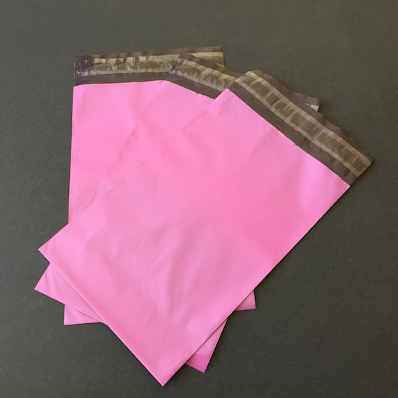 "40 6/"" x 9/"" Pastel Pink Poly Mailers Shipping Envelopes Self Sealing Mailers Bags"