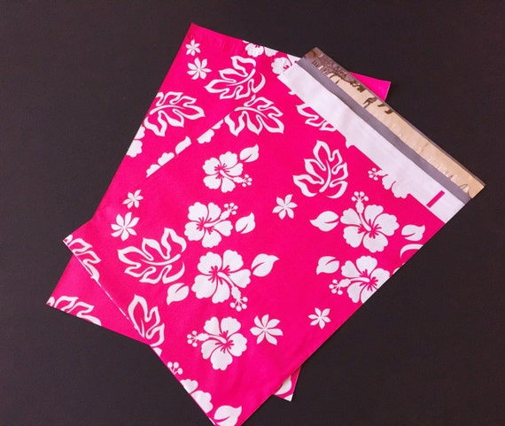 200 Bags 100 10x13 Pink Peony 100 10x13 Puppy Paws Designer Poly Mailers