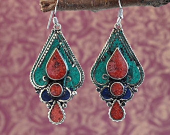 c5c4d85cf Boho tribal earrings | Etsy