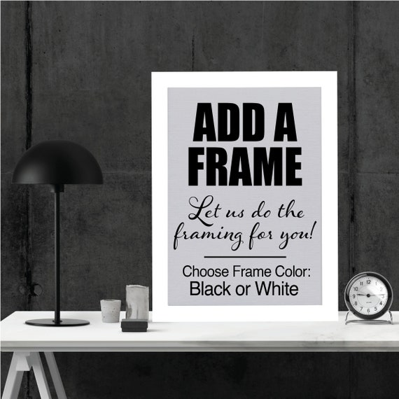 Add A Picture Frame To Any Print 8x10 Frame Black Frame Etsy