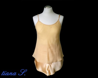 Seidenshorty Gold, embroidered, night Wash, Gr. s