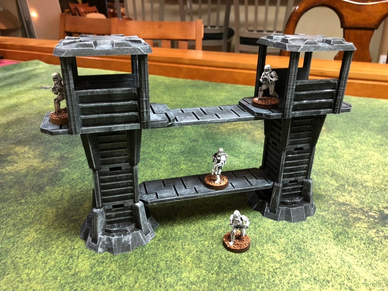 Modular Watchtower and Walkways for Star Wars Legion image 0