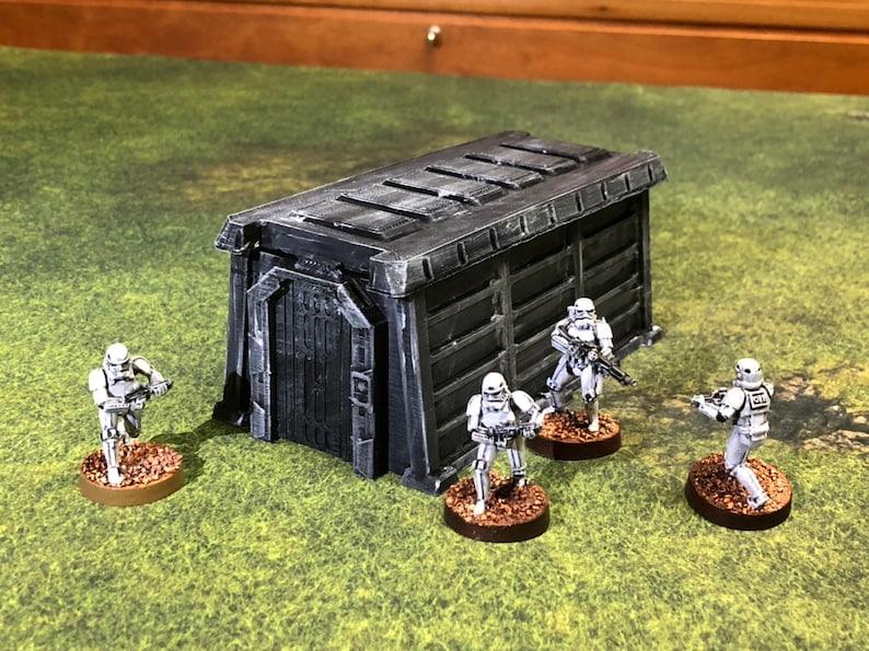 Imperial Barracks Bunker 28mm 32mm  Great for Star Wars image 0