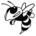Yellow Jackets Hornets Mascot college SVG File Cutting, DXF, EPS design cutting files for Silhouette Studio and Cricut Design spac Football