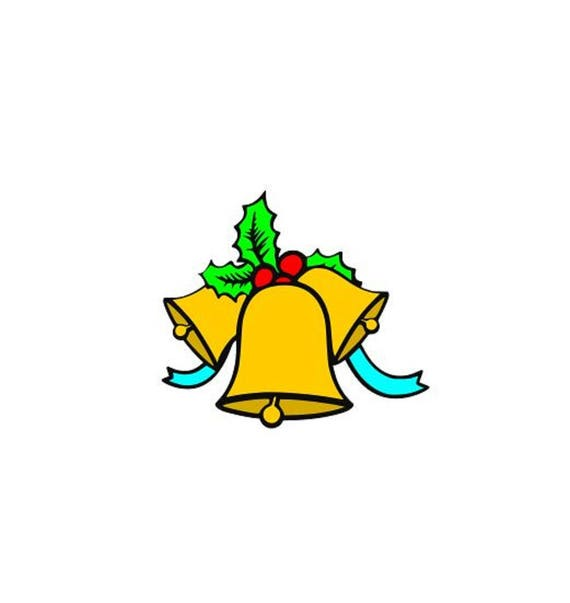 Merry Christmas Svg Jingle Bells Svg Poinsettia Svg Cutting Etsy