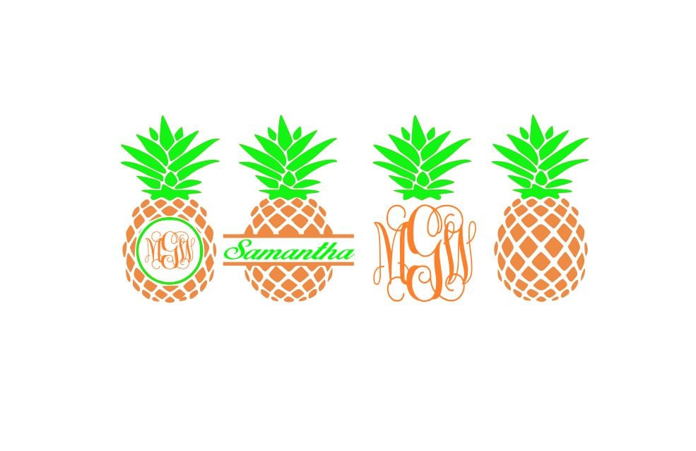 Pineapple SVG Files Pineapple Monogram Svg Pineapple ...