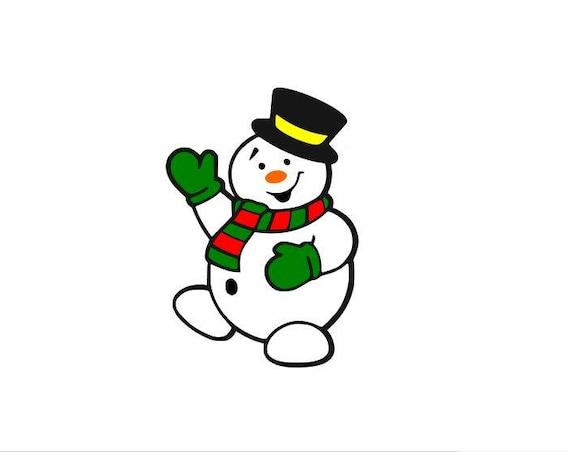 Snowman Svg Christmas Svg Merry Christmas Svg Frosty Svg Etsy