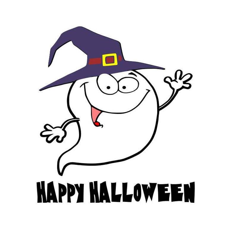 Happy Ghost Svg Happy Halloween Cut File Halloween Cricut Etsy