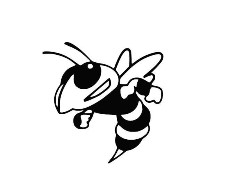Yellow Jackets Hornets Mascot college SVG File Cutting DXF image 0