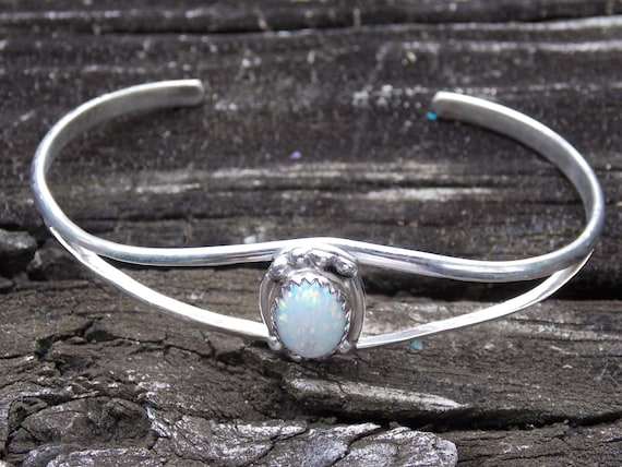 Sterling Silver Navajo Inside Plain Engraved Running Horse Head Cuff Bracelet