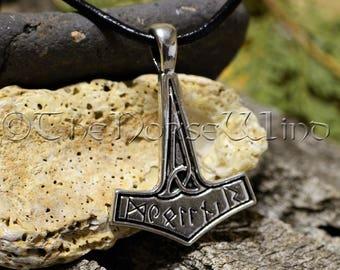 Thor's Hammer Mjolnir Necklace, Viking Necklace, Viking Jewelry, Celtic Thor Hammer Pendant Strength Amulet Norse Mythology Asatru