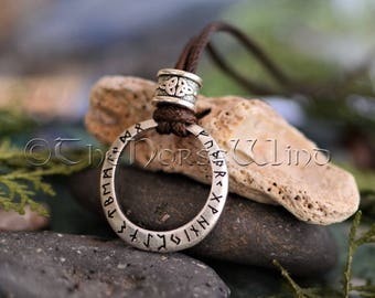 Viking pendant etsy viking rune necklace runes circle pendant runes ring viking pendant celtic amulet viking jewelry ancient runes norse mythology asatru aloadofball Image collections