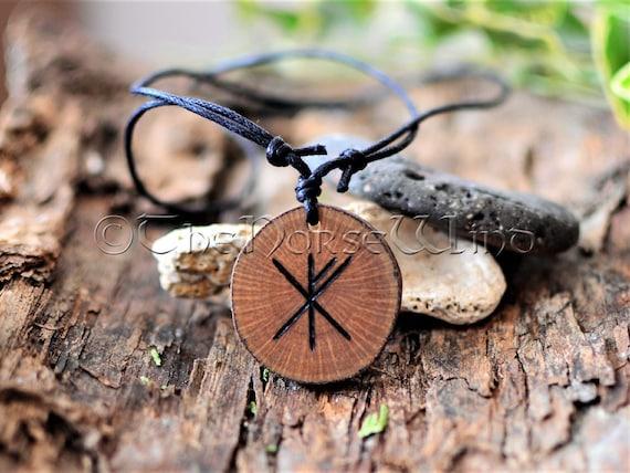 "Norse Viking Rune Love Amulet Artisan Engraved Style 3//4/"" Necklace Pendant Charm"