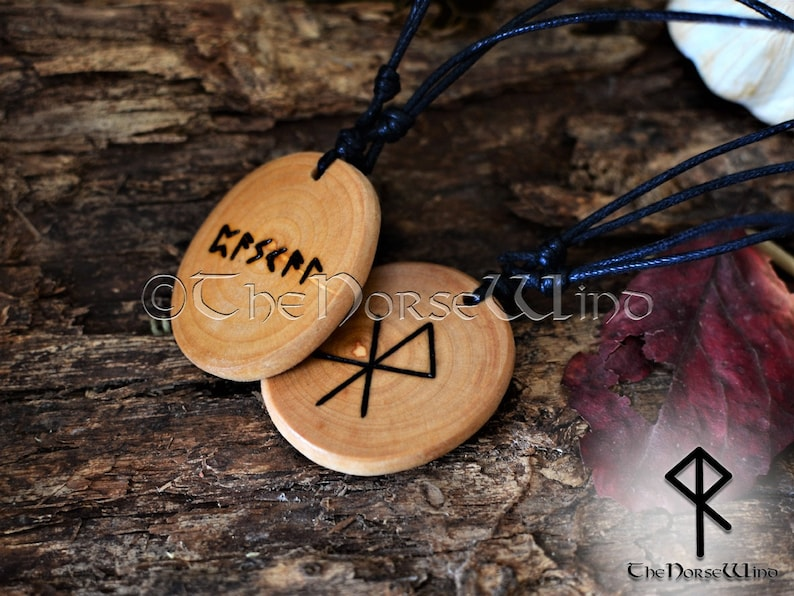 0be49849c8536 Personalized Couples Necklace Viking Runes Amulet, Rune Necklace Love  Bindrune Couples Necklace Gift Asatru Norse Viking Jewelry