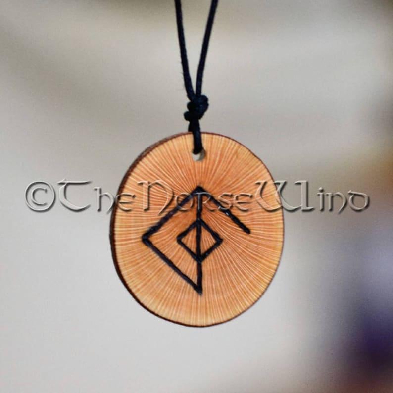 c64a23f80e21c Viking Necklace Rune Necklace Love Amulet Attraction Love Runes Amulet  Virility Norse Mythology Viking Jewelry Bindrune Love Talisman