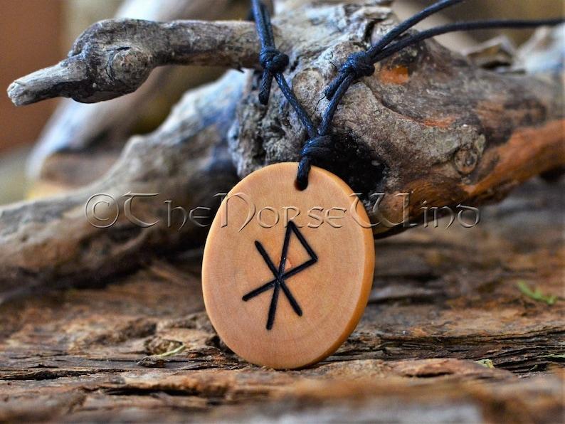 902052eaa05ec Love Talisman Viking Amulet Rune Necklace Attract Love Bindrune Talisman  Futhark Runes Asatru Norse Mythology