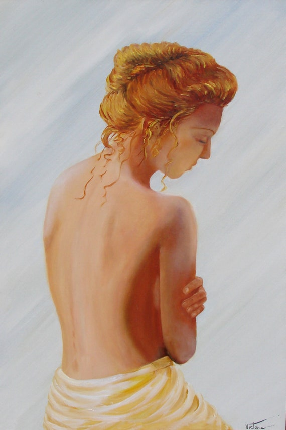 Female Nude In Oil Oil Painting Of A Female Body Naked Etsy
