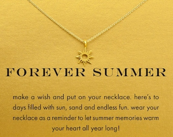 Good luck pendant etsy summer sun and good vibes necklace in gold and silver color good luck pendants aloadofball Gallery