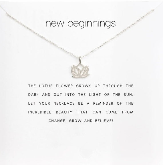 Lotus Flower Necklace New Beginnings In Gold And Silver Etsy