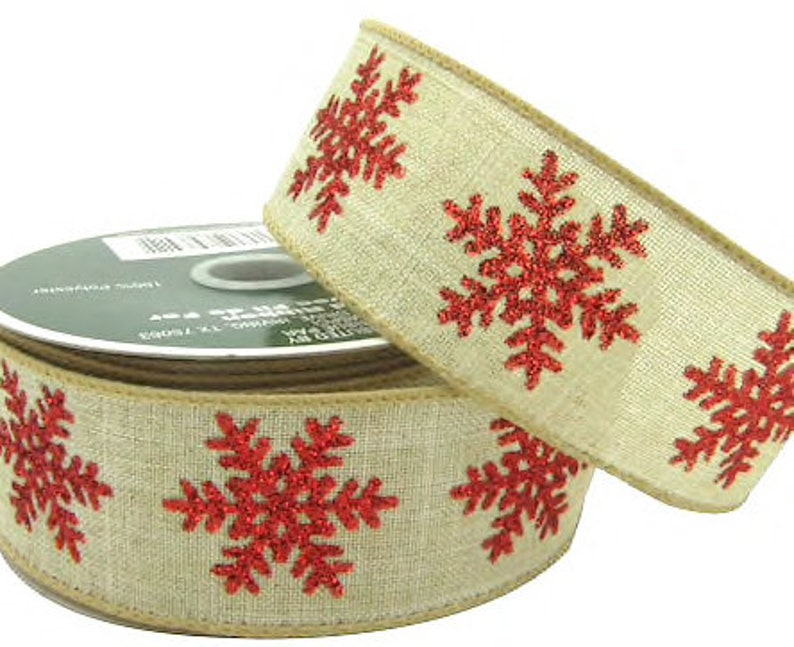 Wired Hessian Christmas Ribbons Decoration Gift Wrapping Wreaths Tree Bows